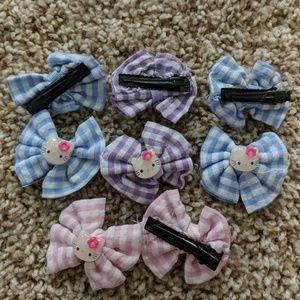 Hello Kitty hair clips